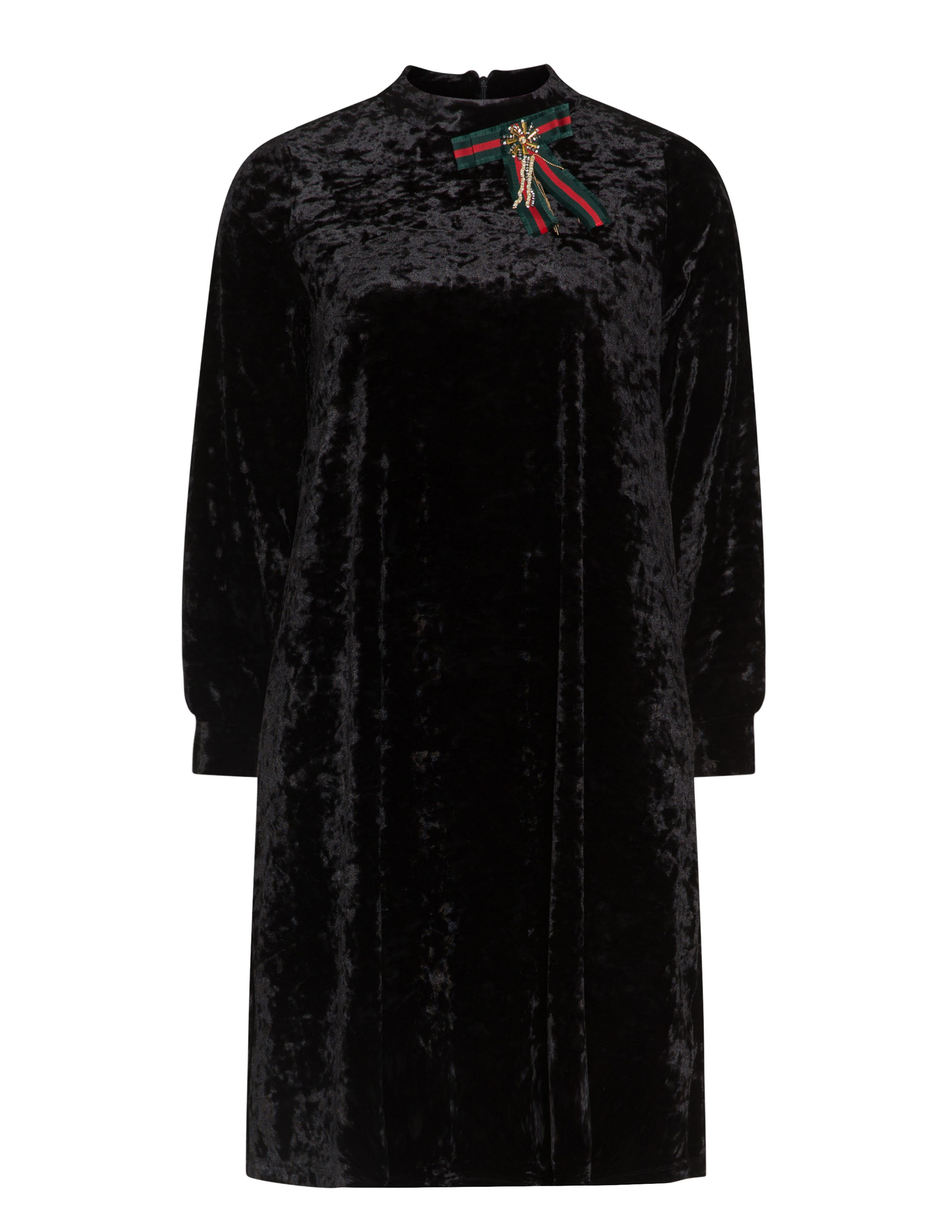 Yoek Long sleeve velvet dress